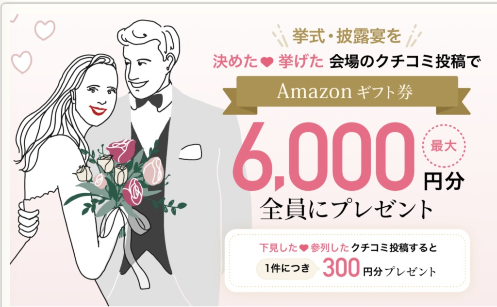 Amazonギフト券6,000円